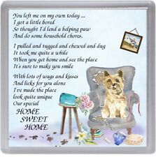 "Cairn Terrier Dog Coaster ""HOME SWEET HOME Poem .."" Novelty Gift by Starprint"