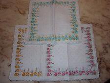 12 mouchoirs femme 100% coton tissées festonnés n°236