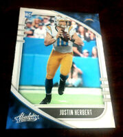 """Justin Herbert 2020 Absolute """"SILVER FOIL"""" RC Rookie RC LA Chargers ROY """"SWEET'"""