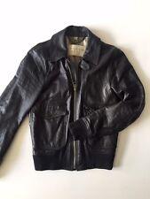 Burberry Brit Slimfit Black Leather Bomber Jacket