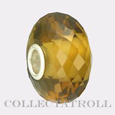 Authentic Trollbeads Stelring Silver Golden Quartz TrollBead  80107  TSTBE-20006