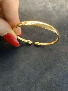 22Ct Carat Gold Filled Infant, Baby, Child, Toddler  Bangle/ Bracelet