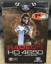 ATI Radeon HD 4650 Graphics Card In Box - 1GB DDR2, SKU 11156-01, TESTED WORKING