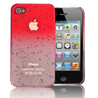 Red Waterdrop Hard Plastic Snap-on Case Cover Skin For Apple iPhone 4 4G 4th 4S