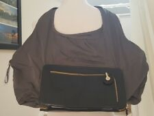 See by Chloe Convertible Clutch and Zippered Shoulder Bag Navy Blue