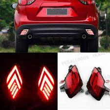 2X LED Lens Rear Bumper Reflector Driving Brake Light for Mazda CX-5 2013-2016