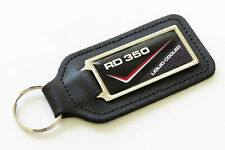 RD350LC - 83 - 4L0 Black/Red/Silver Leather Keyring for Yamaha RD 350 LC RD350