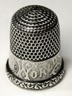 Antique Simons Bros  1893 Columbian Exposition Sterling Silver Thimble  Dtd 1892