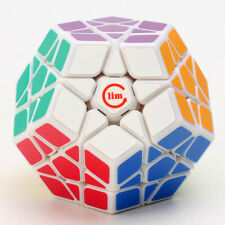 Funs 3X3 Megaminx Magic Cube Dodecagon Twisty Puzzle Limited Fancy Toys White
