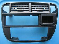 96 97 98 HONDA CIVIC center dash BEZEL black plastic radio trim surround 1996-98