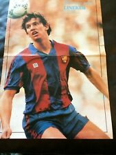LARGE A3 POSTER OF GARY LINEKER OF  FC BARCELONA   ISSUED BY DON BALON