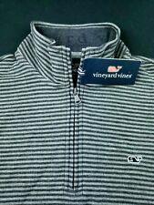 Vineyard Vines Half Zip Striped Golf Pullover Shep Shirt Sweater Medium