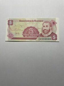 NICARAGUA UNCIRCULATED NOTE: 5 Cordoba Banco Central De NICARAGUA