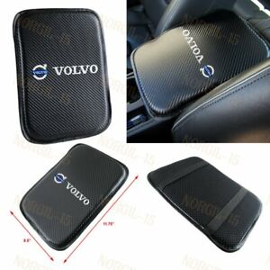 For VOLVO Embroidery Carbon Car Center Console Armrest Cushion Mat Pad Cover X1