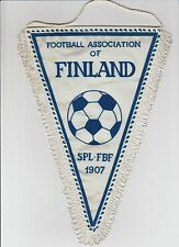 FINLAND INTER FOOTBALL TEAM ORIGINAL 1990'S MEDIUM SIZE PENNANT VERY GOOD CON