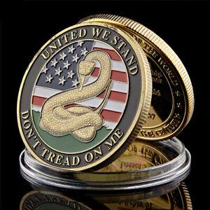 Don't Tread on Me Marine Corps USMC Patriot Freedom Liberty Challenge Coin