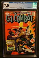 G.I. Combat #127 CGC 7.0, OW Pages, Mlle Marie App., Silver Age 1967 DC Comics