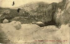 Postcard New York Oswego ICE BANKS Lake Ontario 1917 Rare Publisher