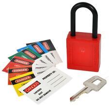 Nylon Seguridad Candado 38MM, Cerradura Color Rojo, Material Para KASP SECURITY