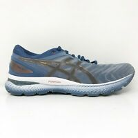 Asics Mens Gel Nimbus 22 1011A680 Blue Gray Running Shoes Lace Up Size 9