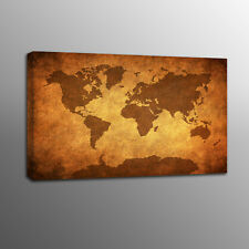 HD Canvas Art Prints Old World Map Wall Art Canvas Painting Home Decor No Frame