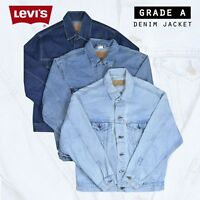 VINTAGE LEVIS DENIM JACKET (GRADE A) VARIOUS COLOURS XXS XS S M L XL XXL