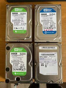 4x misc 500gb SATA Hard Drives (2tb total)