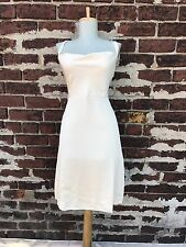 NWT J Crew sz 4P Ivory Cross Back 100% Silk Tricotine Robin Short Dress Wedding