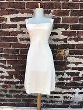 NWT J Crew sz 4P Ivory Cross Back 100% Silk Tricotine Robin Short Dress Wedding