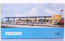 VOLLMER 3532B HO - LONG STATION PLATFORM WITH CANOPY AND KIOSK