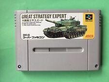 GREAT STRATEGY EXPERT Nintendo Super Famicom SNES SFC Japanese Game FREEShipUSED