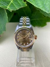 Rolex Datejust 69173 Watch Champagne Dial 26mm Box and Papers 1990