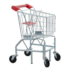 NEW Childs Kids Toy Sturdy Metal Frame Toddler Realistic Play Shopping Cart Mini
