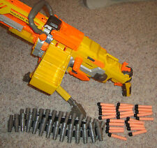 NERF VULCAN EBF-25 PULSE RIFLE CHAIN GUN 8 FEET TRIPOD MAGAZINE 25 BULLETS