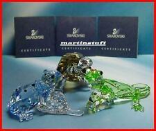 Swarovski® SCS Event Pieces Gecko, Blue Dart Frog & Galapagos Tortoise LTD ED