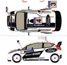 Decal 1/24 FORD FIESTA WRC n°3 + 4 FINLANDIA 2012   Scale Racing Models RD2405