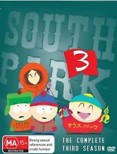 South Park Complete Third Season 3. 3 disc Set Cartman Kyle Stan Kenny Reg 4.