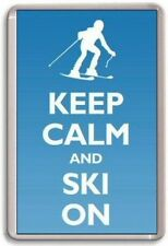 KEEP CALM AND SKI ON Fridge Magnet