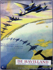 New 15x20cm DeHavilland Mosquito WW2 reproduction vintage metal advertising sign