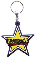 New Rubber Rockstar Energy Logo keychain/keyring. (kr129)