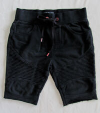 True Religion Moto Cut-off Sweatpant Shorts- Washed Black-Size Large-NWT $129