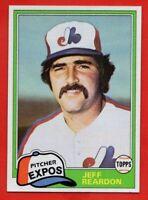 1981 Topps Traded #819 Jeff Reardon SET BREAK MINT+ ROOKIE RC Montreal Expos