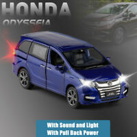2019 Honda Odyssey MPV 1:32 Metal Diecast Model Car Toy Collection Sound&Light