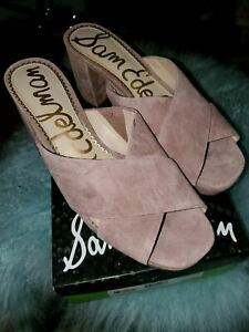 Sam Edelman Women's Jayne Heeled Sandal,  Size 9 1/2 medium Dusty Rose