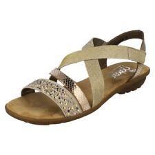 Sandali e scarpe beigi sintetici marca Rieker per il mare da donna