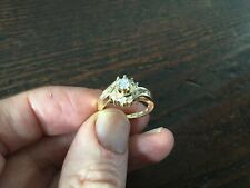 14ct Gold Diamond New Cross over ring with Valuation.