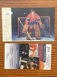 Ken Dryden signed Montreal Canadiens team post card JSA certified