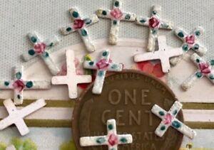 8 Christian Crosses,Vintage Guilloche Enamel Crosses,Enameled Crosses NOS G85N