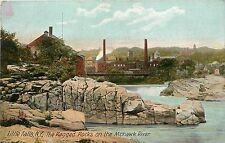 Vintage Postcard Liilte Falls Ny The Ragged Rocks on the Mohawk River New York
