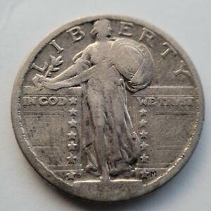 1924-D STANDING LIBERTY QUARTER ✪ F Fine almost Very Fine VF Key Date